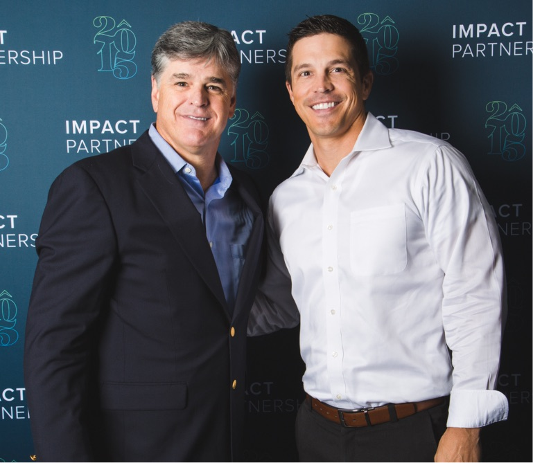 Financial advisor Matt Deaton with talk show host and political commentator Sean Hannity.